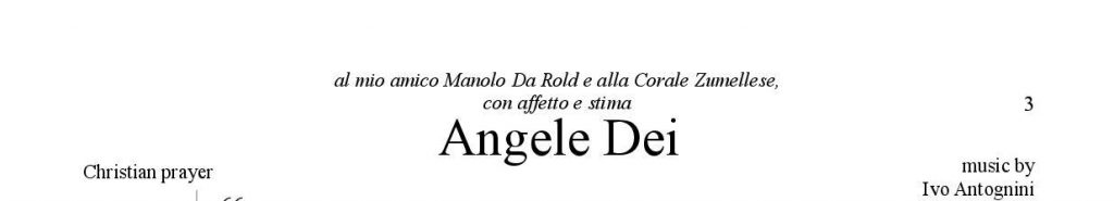 angele dei ritaglio