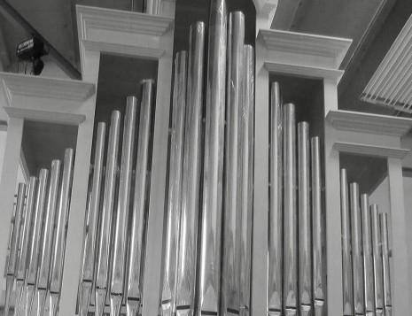 """Facciata del nuovo organo """"A. Zeni"""""""